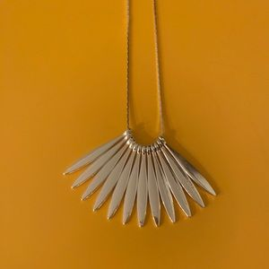 New Silver Long Strand Handmade Necklace